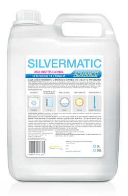 Silvermatic Advance - detergente produtos de limpeza para lavanderia | Campinas SP