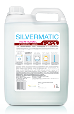 Silvermatic Force - detergente produtos de limpeza para lavanderia | Campinas SP