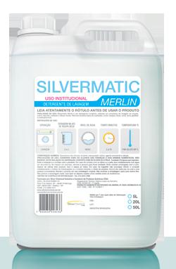 Silvermatic Merlin - detergente para roupas produtos de limpeza para lavanderia | Campinas SP