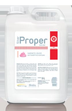 Silver Proper Espuma - sabonete líquido antisséptico - produtos de limpeza profissional higiene pessoal | Campinas SP